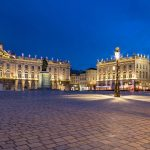 Place Stanislas Nancy Frankreich bei Nacht.