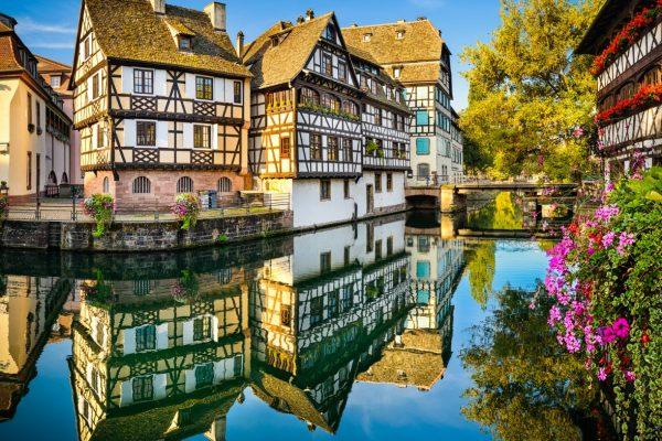 Petite France district in the old town of Strasbourg, France